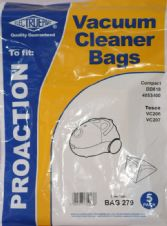 Dust Bags For Tesco Vacuum Cleaner VC206 VC207 Hoover Bags